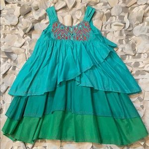 Adorable Asymmetrical tiered dress for girls.